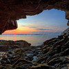 Sea Cave Sunrise  9533 w63