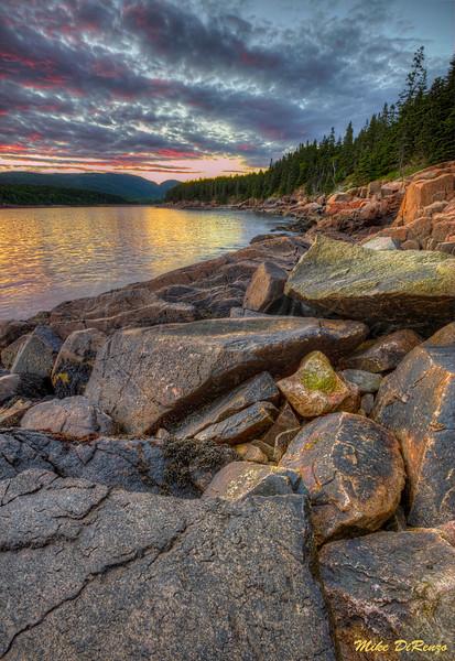 Otter Cliffs Sunset 6114 w43