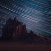 Shiprock with Star Trails 2070 w64