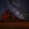 Shiprock at Night 2115 w64