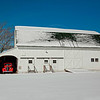 Red Truck in the Barn in the Snow