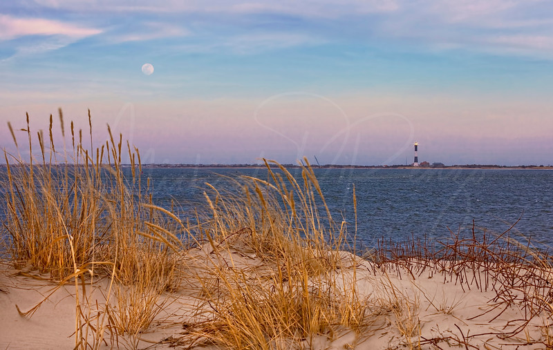Moonrise at the Fire Island Lighthouse