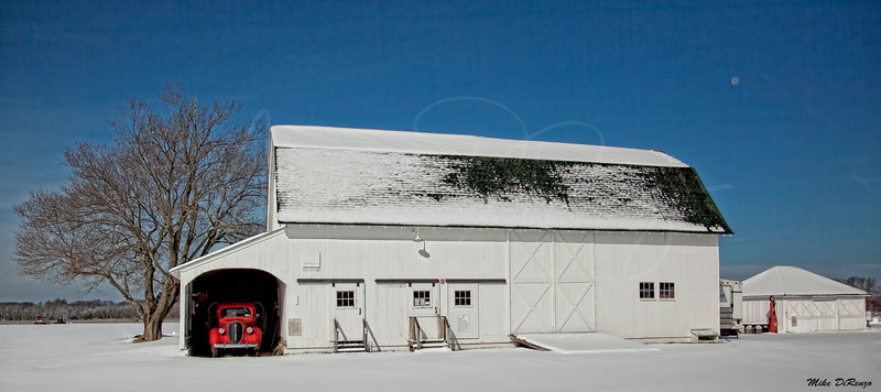 Red Truck in the White Barn 9873 w29