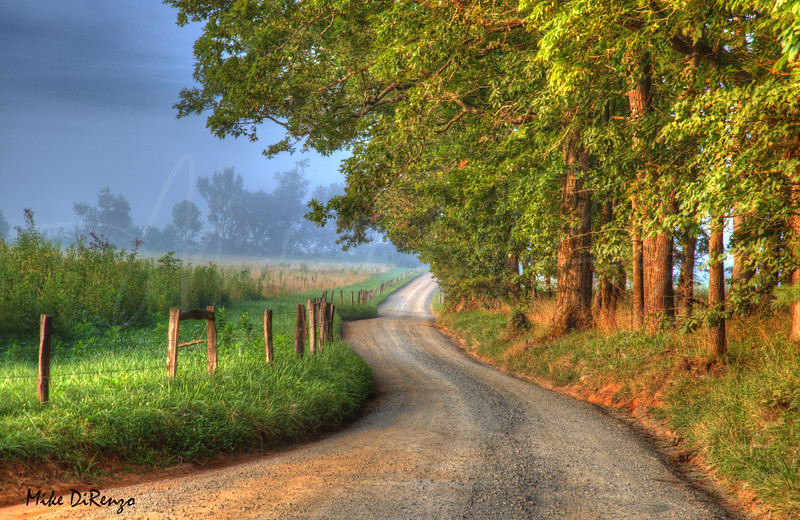 Dusty Backroad in Cades Cove Tennessee   7293   w21