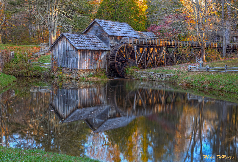 Reflections of Mabry Mill 6176 w46