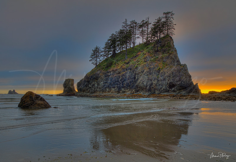Second Beach Sunset  7457 w65
