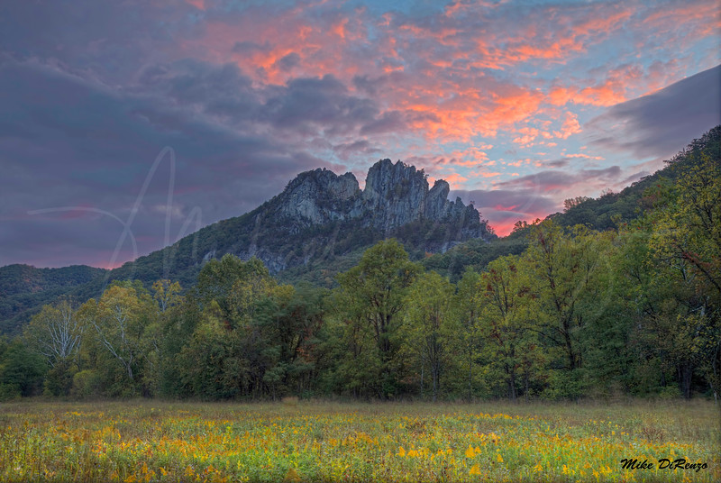 Seneca Rocks at Dawn 3147 w46