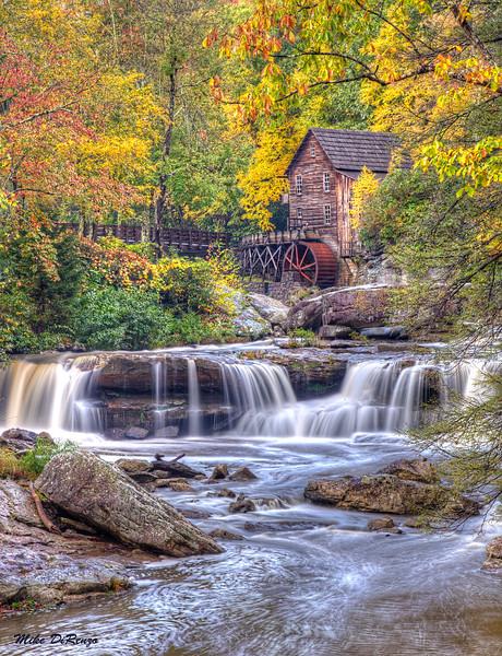 Glade Creek Mill in Autumn  9609 w47
