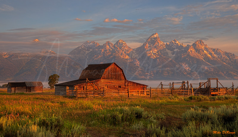 Mormon Barn at Sunrise 1142 w51