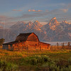 Mormon Barn at Sunrise 1142 w51