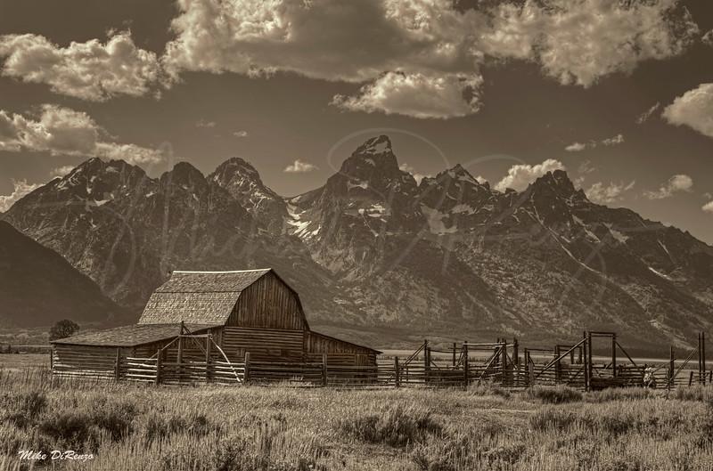 Mormon Barn Sepia 0339 w54