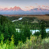The Grand Tetons from the Snake River Overlook  5457 w21