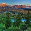 Tetons at Dawn Panorama 1510 w53