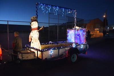 Kingman AZ verlichte Santaparade