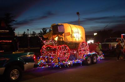 Kingman Arizona verlichte Santaparade