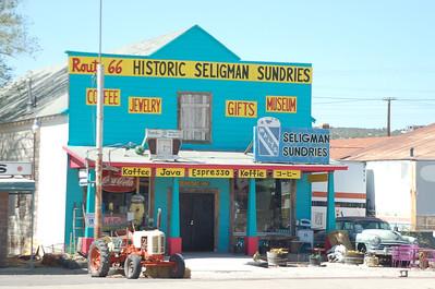 Route-66 Seligman en Oatman 2008