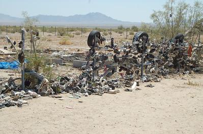 Shoe fence langs de CA-62