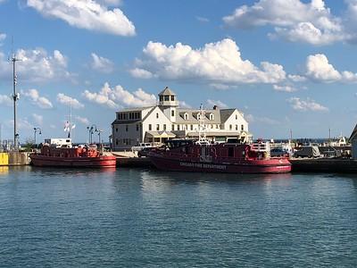 Chicago  kustbevakning och brandbåtar