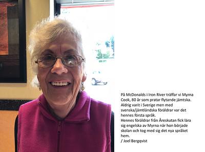 Myrna Cook, jämtska