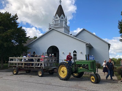 Wagon ride - start in front of the church
