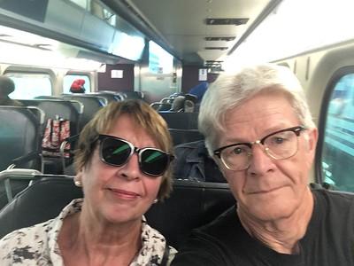 På tåget från Chicago till Cary