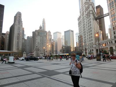 Torget utanför Chicago Herald Tribune