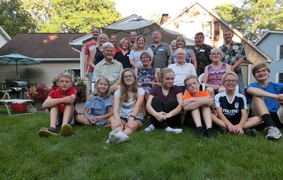 Nordengrens family meeting with barbecue