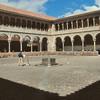Cuzco - Qoriqancha - Cour de l'église Santo Domingo, construite par-dessus le temple du Soleil