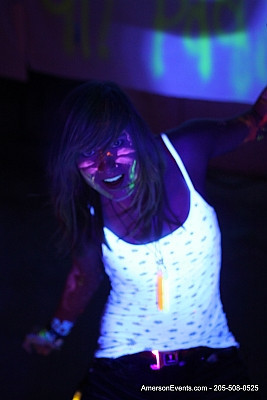 Ally's Black Light Party