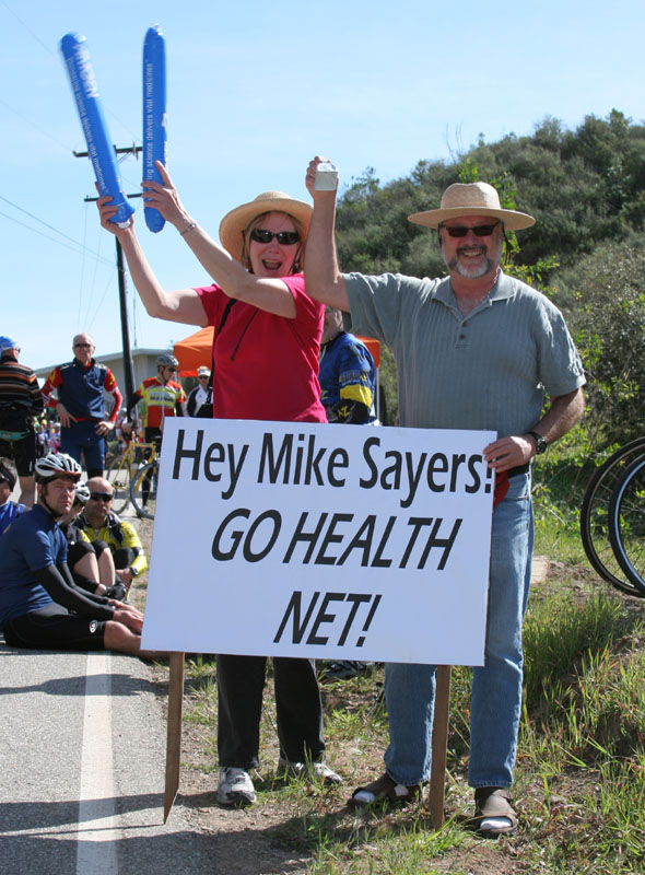 IMG_3632 Mike's aunt and uncle await his arrival at Lake Casitas KOM