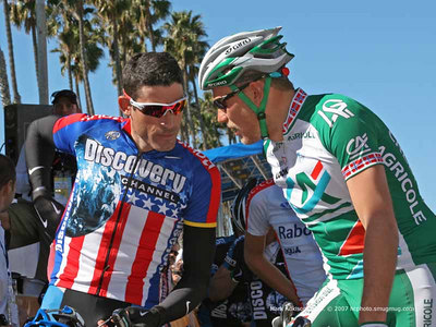 0373 George Hincapie and Thor Hushovd