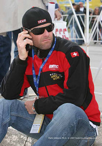 0894  BMC's Mike Sayers stays in touch with his teammates