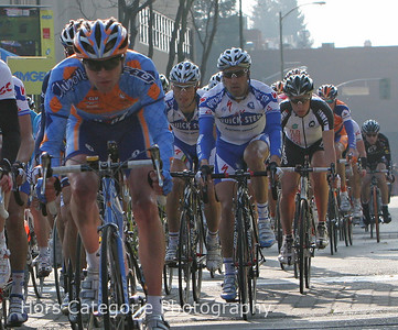 3942 Tom Boonen Peers out from the middle of the pack