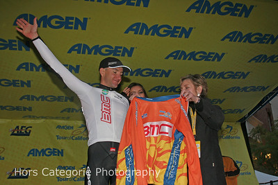 4990 BMC's Scott Nydam receiving the KOM jersey