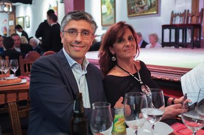 Una noche en el Corral de la Morería, con Celeste, Javier, Meme, Lorne y Donna.