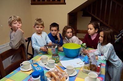 El fin de semana gastronómico-festivo empezó bien pronto el sábado, con pancakes.