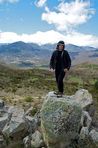 Alfonso en el Cerro de la Mora.