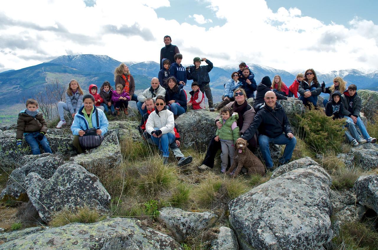 Foto de grupo en lo alto.