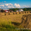 Amish Farm and Oat Shocks