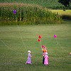 Amish Children Flying Balloons