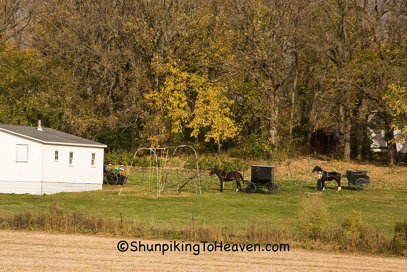 """""""School's Out"""", Amish School, Filmore County, Minnesota"""