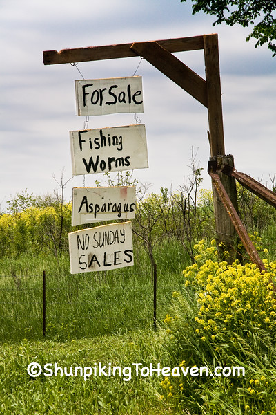 """Amish """"For Sale"""" Sign, Lafayette County, Wisconsin"""