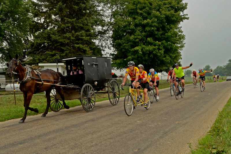 Passing an Amish buggy on Saturday