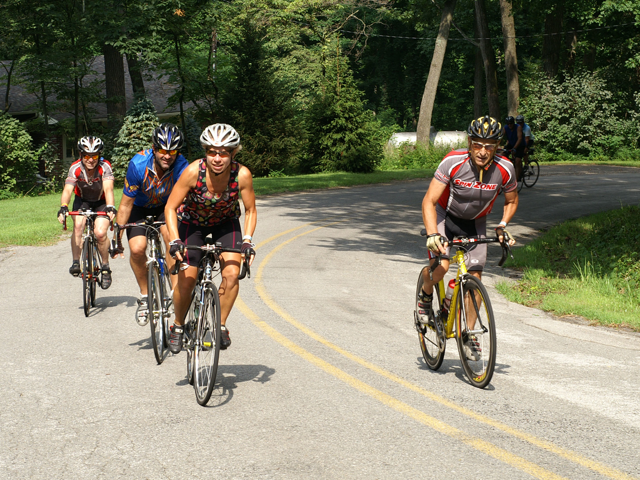 Attacking the hills on Taylor road on Sunday