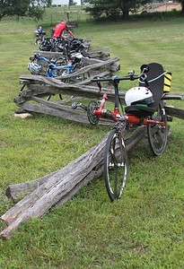 Bicycle parking at George Rogers Park on Saturday