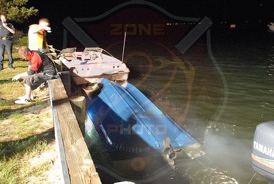 Amityville F.D. Boat Accident end of Braham Ave. 6/19/10