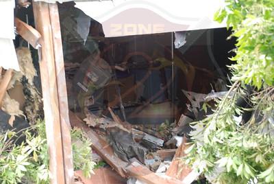 Amityville F.D. MVA car into house 127 Oak St. 5/16/09
