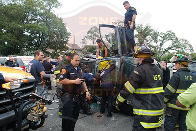 Amityville F.D. MVA w/ Overturn and Entrapment Sunrise Hwy. and County Line Rd. 10/3/08
