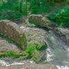 Remnants of an old bridge.