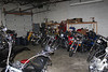 Bo's cycles. Shop area, we work on Domestics and Asian models